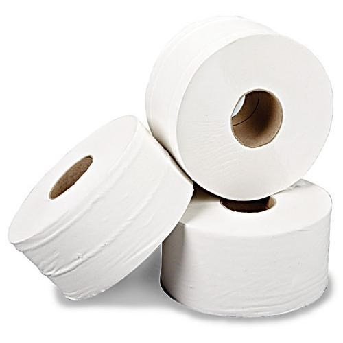 "TOILET ROLL JUMBO 2 PLY WHITE X 6 (2.25"" CORE X 410MTR)"