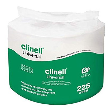 WIPES CLINELL UNIVERSAL BUCKET REFILL OF 225 X 1